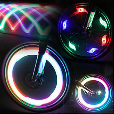 LED Lumini de Bicicletă lumini intermitente capac robinet lumini roți Ciclism montan Bicicletă Ciclism Rezistent la apă Moduri multiple Lumină LED Baterie Ciclism / IPX-4
