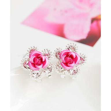 povoljno Naušnice-Žene Sitne naušnice Cvijet Moda Naušnice Jewelry Crvena / Plava / Pink Za Vjenčanje Party