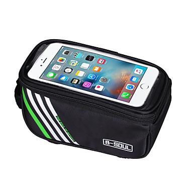 ieftine Genți Bicicletă-B-SOUL 1.5L Telefon mobil Bag Genți Cadru Bicicletă Ecran tactil Rezistent la șoc Suport Iphone Geantă Motor Nailon Geantă Biciletă Geantă Ciclism iPhone X / iPhone XR / iPhone XS Ciclism / Bicicletă