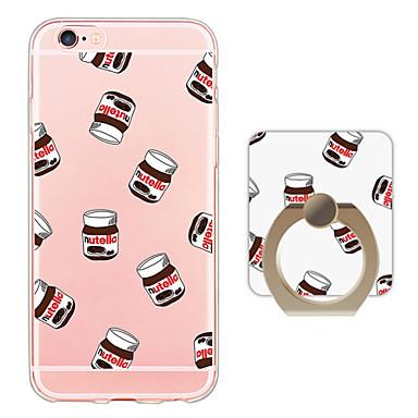 voordelige iPhone-hoesjes-hoesje Voor iPhone 6s Plus / iPhone 6 Plus / iPhone 6s iPhone SE / 5s Ringhouder / Ultradun / Doorzichtig Achterkant Tegel Zacht TPU