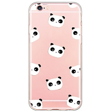 voordelige iPhone 5 hoesjes-hoesje Voor Apple iPhone X / iPhone 8 Plus / iPhone 8 Ultradun / Doorzichtig Achterkant Cartoon / Panda Zacht TPU
