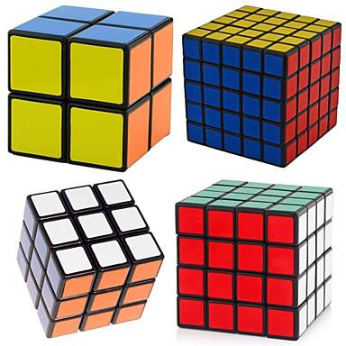 olcso különleges ajánlatok-4 db Magic Cube IQ Cube Shengshou 2*2*2 3*3*3 4*4*4 5*5*5 Sima Speed Cube Rubik-kocka Stresszoldó Puzzle Cube szakmai szint Sebesség Professzionális Klasszikus és időtálló Gyermek Felnőttek Játékok