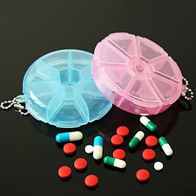 olcso Konyhai tárolás-hasznos hordozható 7 napos tabletta doboz vitamin tabletta biztonságos tok nagy rekesz (ramdon szín)