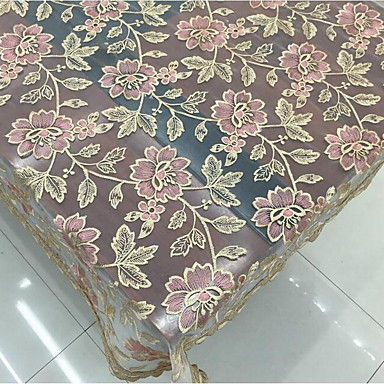 Polyester Rectangular Table Cloth Patterned Embroidered Eco Friendly