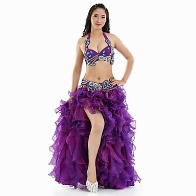 cheap Dancewear & Shoes-Belly Dance Outfits Women's Performance Polyester Split Front Sleeveless Dropped Top / Skirt / Belt