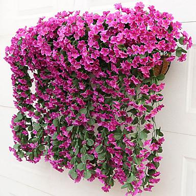 زهور اصطناعية 2 فرع ستايل حديث بنفسجي أزهار الحائط