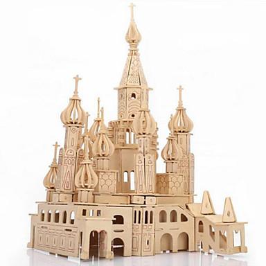 olcso Fejtörők-3D építőjátékok Fejtörő Fából készült építőjátékok Kastély Népszerű épület Szentpétervár DIY tettetés Fa 1 pcs Gyermek Felnőttek Fiú Lány Játékok Ajándék / Wood Model