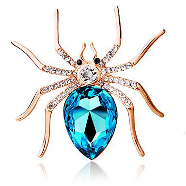 Žene Broševi Pasijans dame Personalized Moda Kristal Broš Jewelry Dark Blue Crvena Svjetloplav Za Party Dnevno Kauzalni