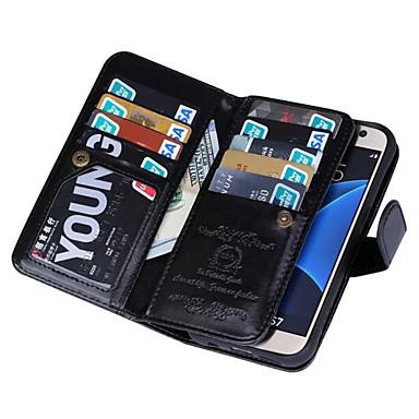 voordelige Galaxy S-serie hoesjes / covers-hoesje Voor Samsung Galaxy S7 edge / S7 / S6 edge Portemonnee Volledig hoesje Effen Kleur PU-nahka