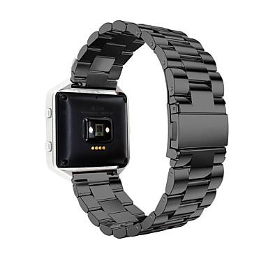 billige Klokkeremmer til Fitbit-Klokkerem til Fitbit Blaze Fitbit Sportsrem Rustfritt stål Håndleddsrem