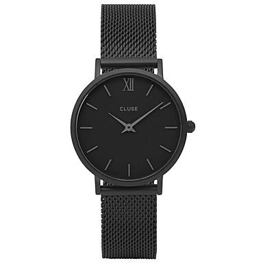 Недорогие Часы на металлическом ремешке-Муж. Для пары Модные часы Наручные часы Кварцевый На каждый день / Аналоговый Черный / Нержавеющая сталь / Нержавеющая сталь