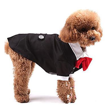 chien costume smoking v tements pour chien cosplay mariage uni noir de 618099 2018. Black Bedroom Furniture Sets. Home Design Ideas