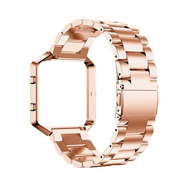 voordelige Smartwatch-accessoires-Horlogeband voor Fitbit Blaze Fitbit Klassieke gesp Metaal / Roestvrij staal Polsband