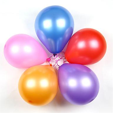 olcso Balloons-Labdák Léggömbök Fejlesztő játék Parti Klasszikus Felfújható Szilikon Latex 100 pcs Klasszikus Gyerekek Felnőttek Fiú Lány Játékok Ajándék