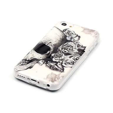 voordelige iPhone 5c hoesjes-hoesje Voor Apple iPhone X / iPhone 8 Plus / iPhone 8 IMD / Ultradun / Transparant Achterkant Doodskoppen Zacht TPU