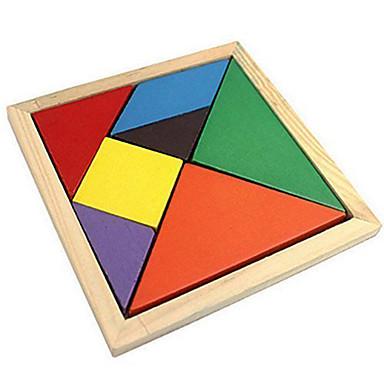 Tangram Puzzle Puzzle Lemn Plin de Culoare De lemn Clasic Clasic & Fără Vârstă Băieți Fete Jucarii Cadou