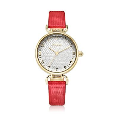 رخيصةأون ساعات الرجال-KEZZI نسائي ساعة المعصم كوارتز كوارتز ياباني جلد اصطناعي أسود / أزرق / أحمر عرض ساخن مماثل سيدات زهر كاجوال موضة أنيق - أحمر أزرق زهري