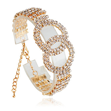 ieftine Brățări de Tenis-Pentru femei Bratari de tenis Modă Aliaj Bijuterii brățară Argintiu / Auriu Pentru Nuntă