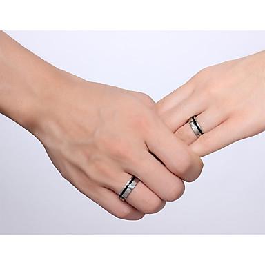 ieftine Inele-Bărbați Pentru femei Pentru cupluri Inele Cuplu Band Ring inel de filare Zirconiu Cubic Argintiu / negru Teak Zirconiu Cubic Ciucure Vintage Modă Nuntă Petrecere Bijuterii