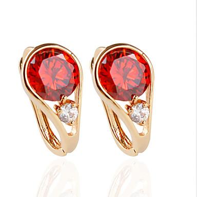 olcso Beszúrós fülbevalók-Női Beszúrós fülbevalók Divat Fülbevaló Ékszerek Piros / Kék / Rózsaszín Kompatibilitás Esküvő