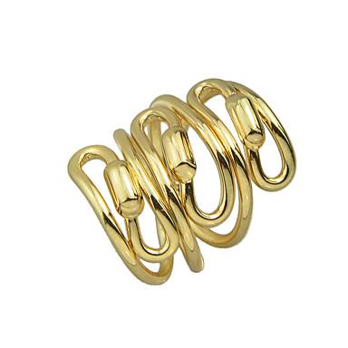 olcso Divat gyűrűk-Női Nyilatkozat gyűrű Ezüst Aranyozott Ötvözet Szokatlan Egyedi Vintage Parti Napi Ékszerek Kazal Kézműves