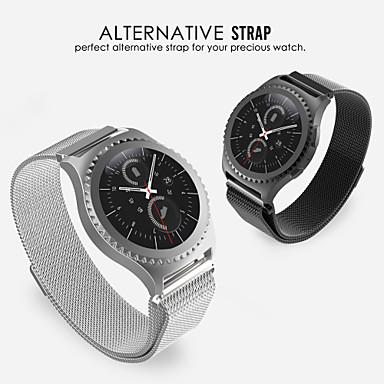 voordelige Smartwatch-accessoires-Horlogeband voor Gear S2 Classic Samsung Galaxy Milanese lus Roestvrij staal Polsband