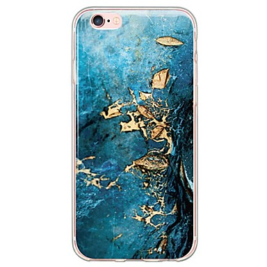 voordelige iPhone 5 hoesjes-hoesje Voor iPhone 6s Plus / iPhone 6 Plus / iPhone 6s iPhone SE / 5s Ultradun / Doorzichtig Achterkant Marmer Zacht TPU