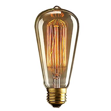 povoljno LED žarulje-brelong 1 pc e27 40w st64 dimmable edison dekorativna žarulja topla bijela