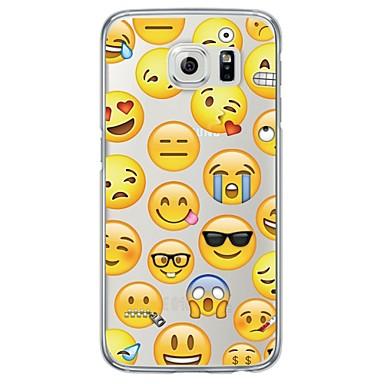 voordelige Galaxy S-serie hoesjes / covers-hoesje Voor Samsung Galaxy S7 edge / S7 / S6 edge plus Ultradun / Doorzichtig Achterkant Tegel Zacht TPU