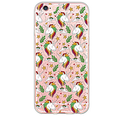 voordelige iPhone 6 Plus hoesjes-hoesje Voor iPhone 6s Plus / iPhone 6 Plus / iPhone 6s iPhone SE / 5s Ultradun / Doorzichtig Achterkant Cartoon Zacht TPU