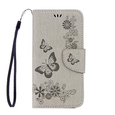 povoljno Maske za mobitele-Θήκη Za Samsung Galaxy S7 edge / S7 / S6 edge Novčanik / Utor za kartice / sa stalkom Korice Rukav leptir Mekano PU koža