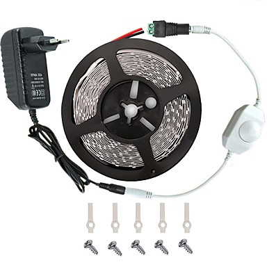 ieftine Benzi De Lumini LED-KWB 5m Bare De Becuri LED Rigide 300 LED-uri 3528 SMD Alb Cald / Alb / Roșu Telecomandă / Ce poate fi Tăiat / Intensitate Luminoasă Reglabilă 100-240 V / De Legat / Potrivite Pentru Autovehicule