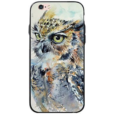 voordelige iPhone 6 Plus hoesjes-hoesje Voor Apple iPhone 6s Plus / iPhone 6s / iPhone 6 Plus Transparant / Patroon Achterkant dier / Uil Zacht TPU