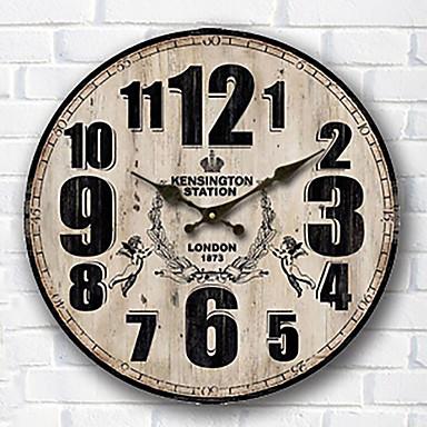 901ecebe8 الحديثة / المعاصرة العائلة ساعة الحائط,دائري خشب 34*34*3cm داخلي ساعة حائط  5258592 2019 – €24.14