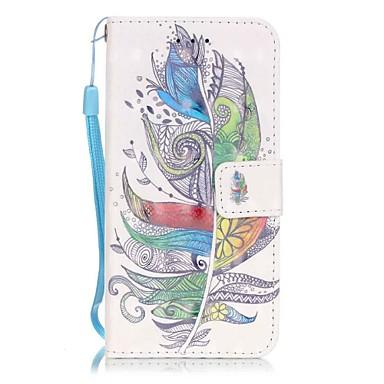 povoljno iPhone maske-Θήκη Za Apple iPhone 7 Plus / iPhone 7 / iPhone 6s Plus Utor za kartice / Uzorak Korice Perje Tvrdo PU koža