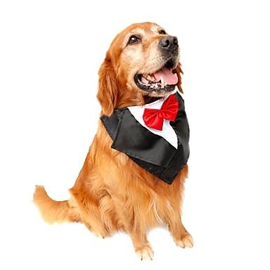 povoljno Odjeća za psa i dodaci-Mačka Pas Szmoking Kravata / Leptir mašna Odjeća za psa purpurna boja Crvena Plava Kostim Terilen Mašna Kamado roštilj Vjenčanje Novogodišnji