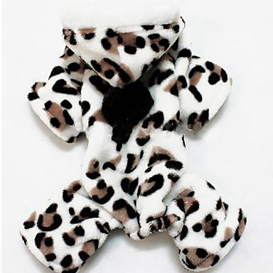 povoljno Odjeća za psa i dodaci-Mačka Pas Kostimi Kaputi Puloveri Zima Odjeća za psa Leopard Pink Kostim Flis Na točkice Leopard Color block Cosplay Kamado roštilj Vjenčanje S M L XL XXL / Hoodies