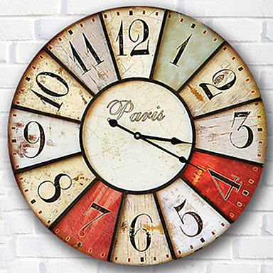ea5298aae الحديثة / المعاصرة العائلة ساعة الحائط,دائري خشب 34*34*3cm داخلي ساعة حائط  5258683 2019 – €24.14
