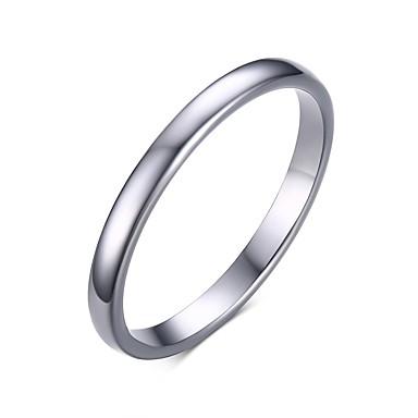 ieftine Inele-Band Ring Alb Teak Oțel Tungsten Modă Inginerie 6 7 8 9 10 / Bărbați / Bărbați
