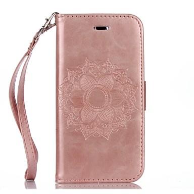 Недорогие Кейсы для iPhone 7 Plus-Кейс для Назначение Apple iPhone X / iPhone 8 Pluss / iPhone 8 Кошелек / Бумажник для карт / со стендом Чехол Мандала / Цветы Твердый Кожа PU