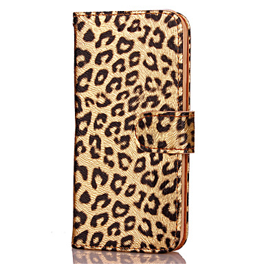 voordelige iPhone 6 Plus hoesjes-hoesje Voor Apple iPhone X / iPhone 8 Plus / iPhone 8 Kaarthouder / met standaard / Flip Volledig hoesje Luipaardprint / dier Hard PU-nahka