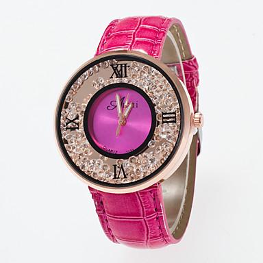 28b3e390f1d Mulheres Relógio de Pulso Relógios Femininos com Cristais Quartzo   PU  Banda Casual Branco Azul Vermelho Marrom Rose de 5279396 2019 por €7.99