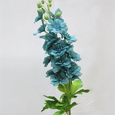 olcso Office Decor-Művirágok 1 Ág minimalista stílusú Sarkantyúfüvek Százszorszépek Asztali virág