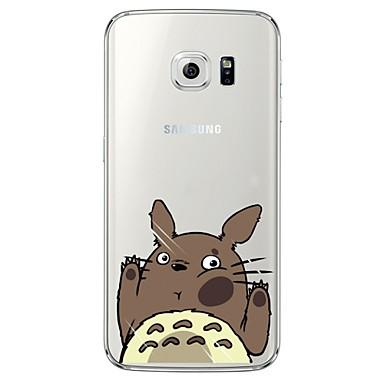 voordelige Galaxy S-serie hoesjes / covers-hoesje Voor Samsung Galaxy S7 edge / S7 / S6 edge plus Transparant / Patroon Achterkant Cartoon Zacht TPU