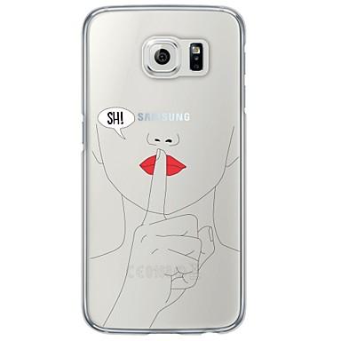 Недорогие Чехлы и кейсы для Galaxy S6 Edge-Кейс для Назначение SSamsung Galaxy S7 edge / S7 / S6 edge plus Ультратонкий / Полупрозрачный Кейс на заднюю панель другое Мягкий ТПУ