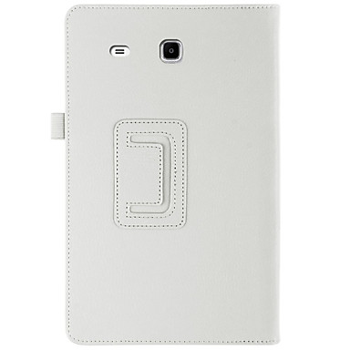 voordelige Samsung-hoes voor tablets-hoesje Voor Samsung Galaxy Tab E 9.6 Volledig hoesje / tablet Cases Effen Hard PU-nahka