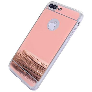 Недорогие Кейсы для iPhone 6 Plus-Кейс для Назначение Apple iPhone 7 Plus / iPhone 7 / iPhone 6s Plus Зеркальная поверхность Кейс на заднюю панель другое / Однотонный Твердый ПК