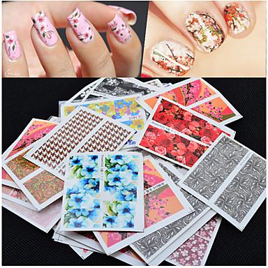 50 pcs 3D Nail Stickers Nail Jewelry nail art Manicure Pedicure Flower / Fashion Daily / PVC(PolyVinyl Chloride)