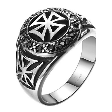 20a5b3eca7bf Men s Band Ring - Titanium Steel Cross Personalized