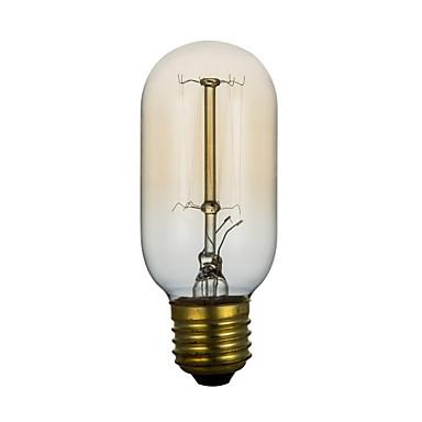 BriLight 1 buc 40 W E26 / E27 / E27 T45 Alb Cald 2300 k Incandescent Vintage Edison bec 220 V / 220-240 V